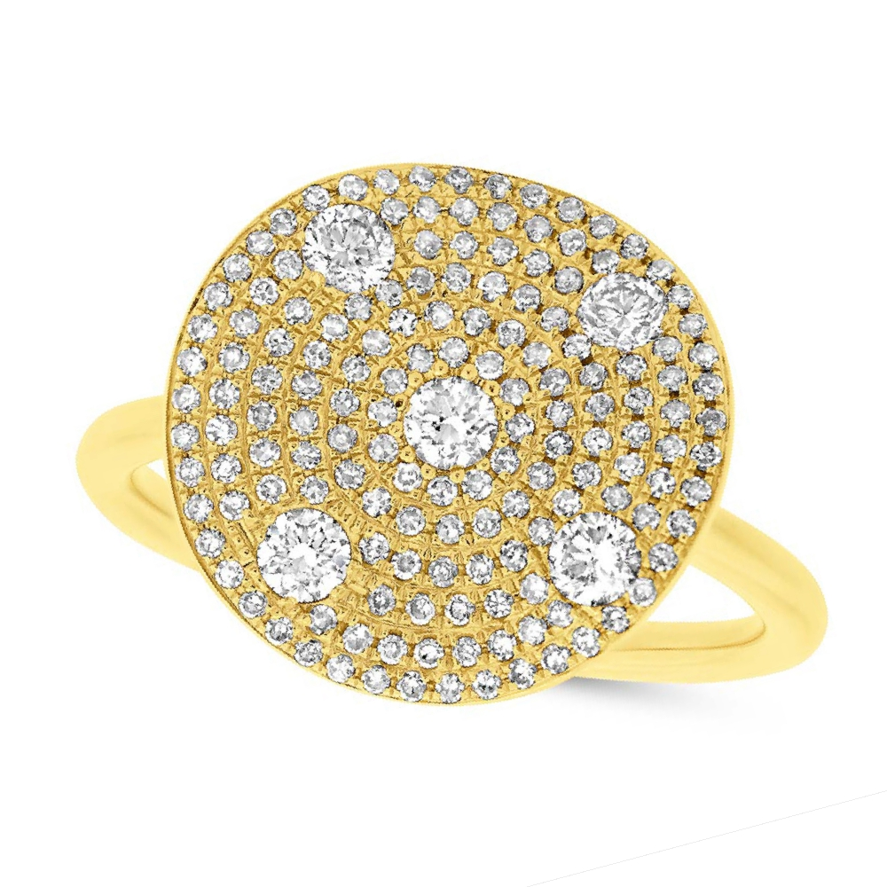 0.68ct 14k Yellow Gold Diamond Lady's Ring