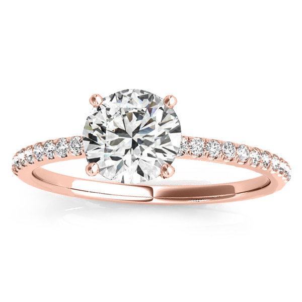 Diamond Accented Engagement Ring Setting 14k Rose Gold (0.12ct)