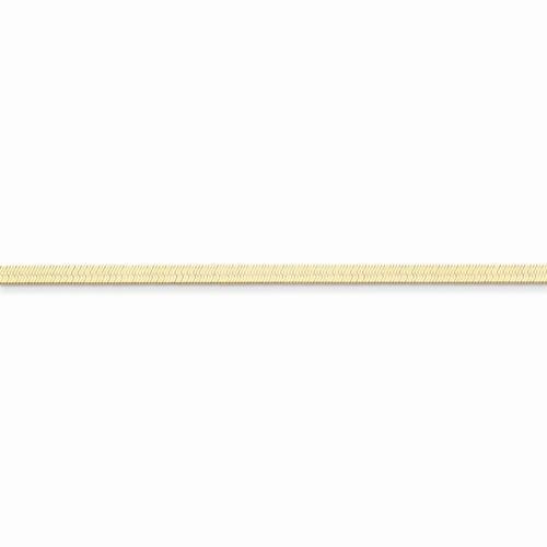 Skily Herringbone Chain Necklace in 14k Yellow Gold
