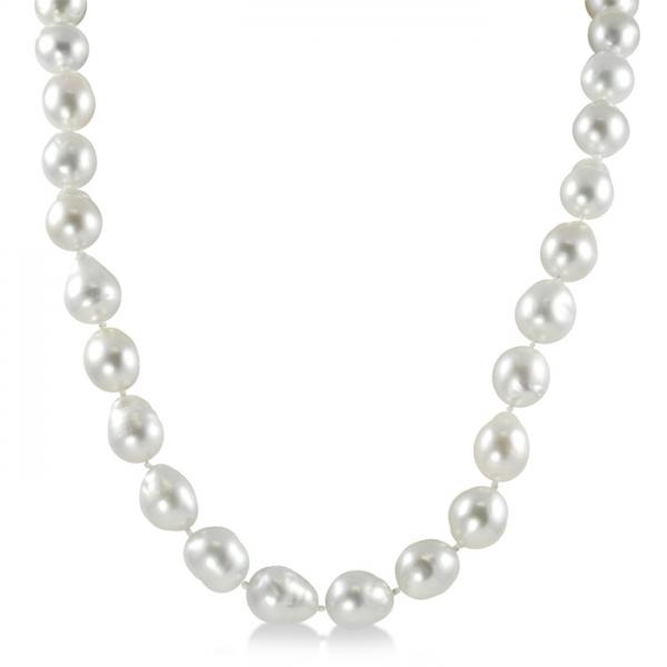 Baroque Freshwater South Sea Cultured Pearl Strand Necklace 9-11.5mm