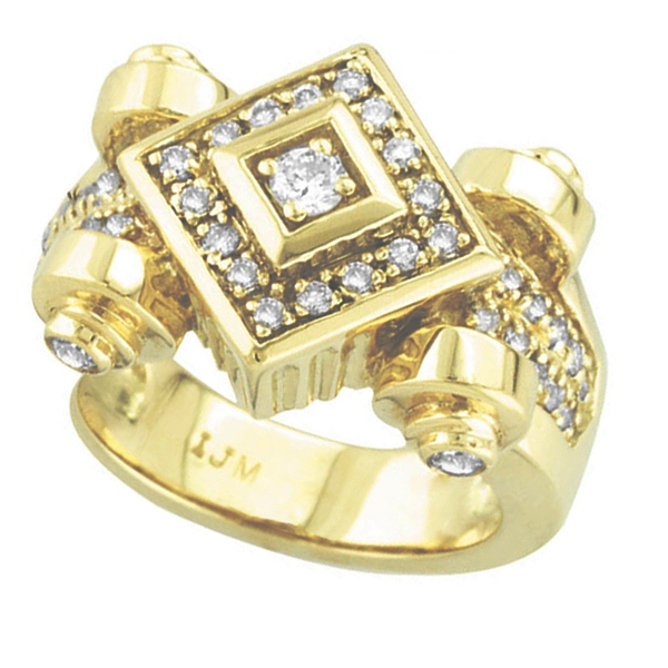 Antique Style Diamond Ring 18K Yellow Gold (0.50ct)