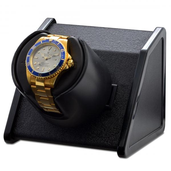 Orbita Rectangular Single Watch Winder in Black Metal