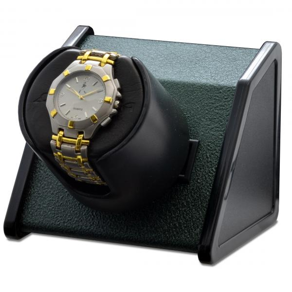 Orbita Rectangular Single Watch Winder in Green Metal