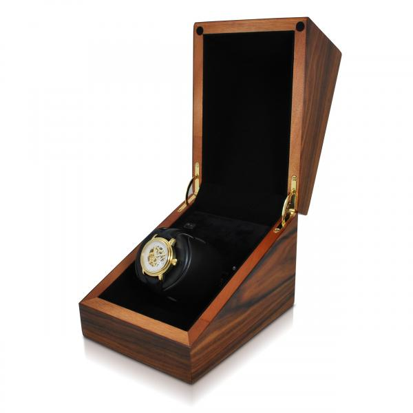 Orbita Cube Single Watch Winder in Deluxe Teak Wood