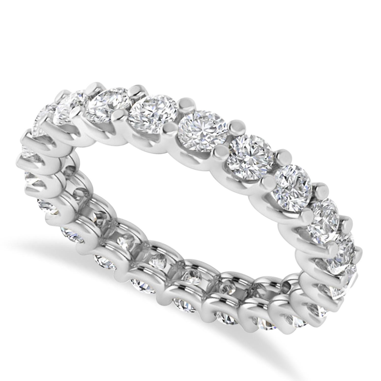 Diamond Eternity Prong-Set Wedding Band 14k White Gold (2.10ct)