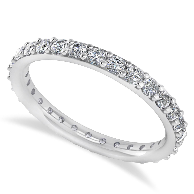 Diamond Eternity Wedding Band 14k White Gold (0.87ct)