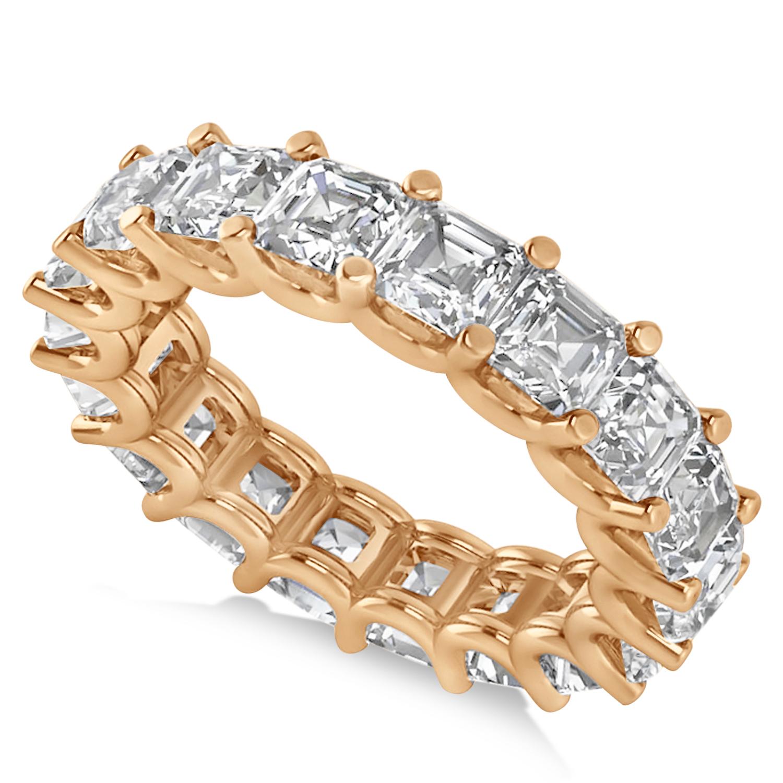 radiantcut eternity diamond wedding band ring 14k rose