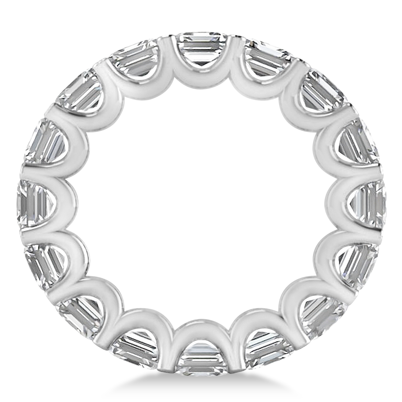 radiantcut diamond eternity wedding band ring 14k white
