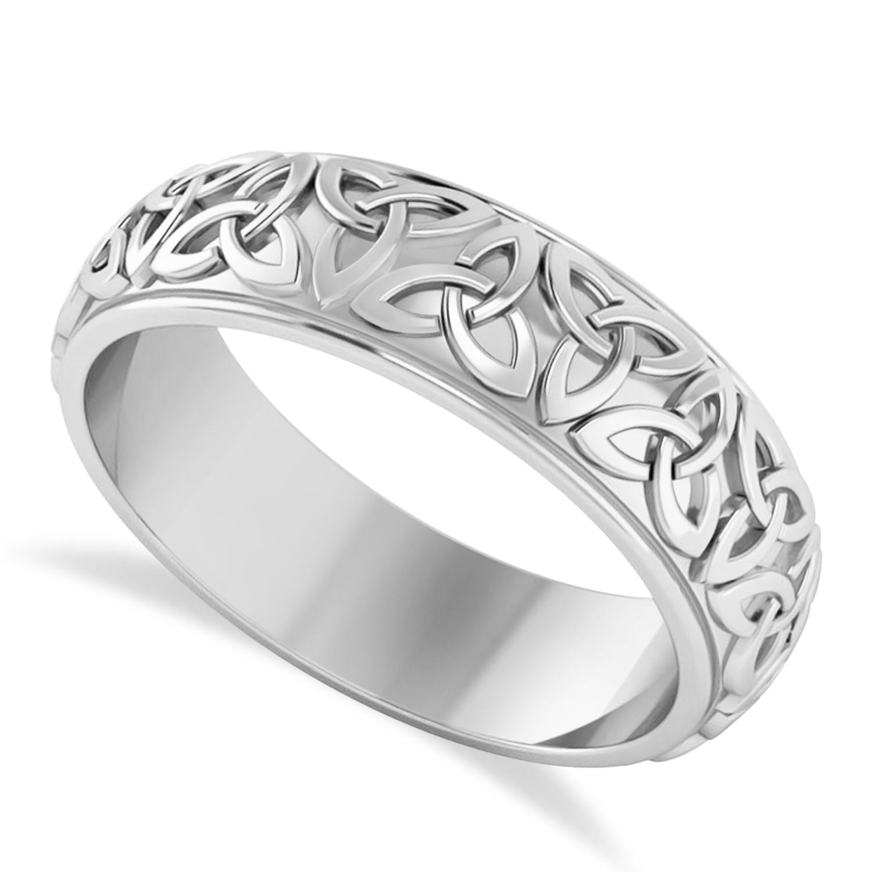 Celtic Knot Eternity Band 14k White Gold