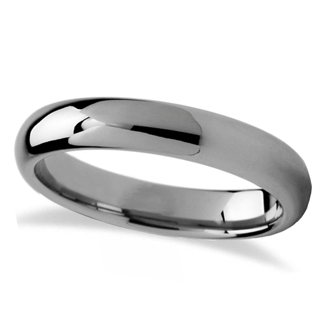 Domed Tungsten Carbide Wedding Band (4mm)