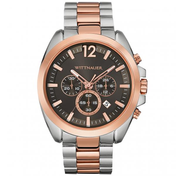 Men's Wittnauer Watch Chronograph w/ 2-Tone Stainless Steel Bracelet