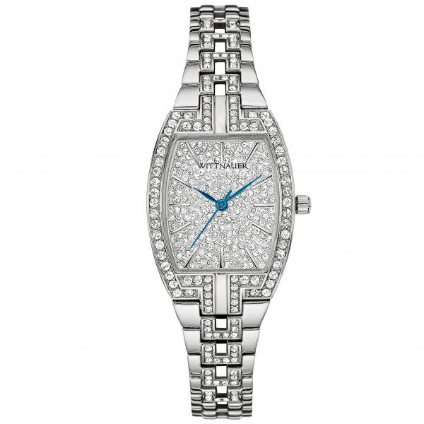 Women's Wittnauer Quartz Watch Stainless Steel with Pave Set Crystals