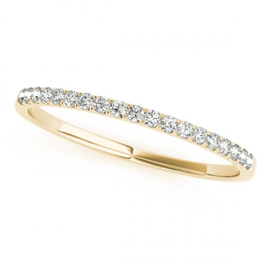 Thin Diamond Wedding Ring Band14k Yellow Gold (0.11ct)