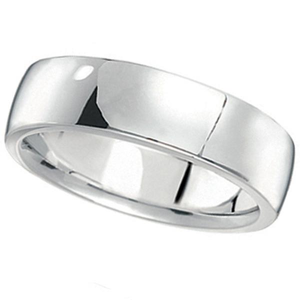 Men's Wedding Ring Low Dome Comfort-Fit in Palladium (6 mm)