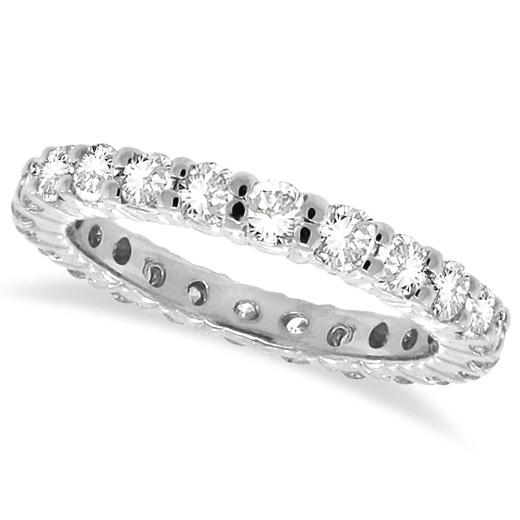 Diamond Eternity Ring Wedding Band 14k White Gold (1.07ctw) Size 6.5