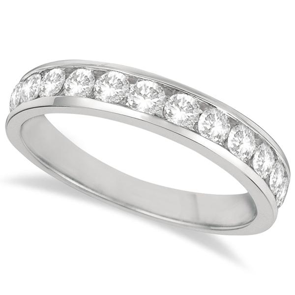 Channel-Set Diamond Anniversary Ring Band Palladium (0.75ct)