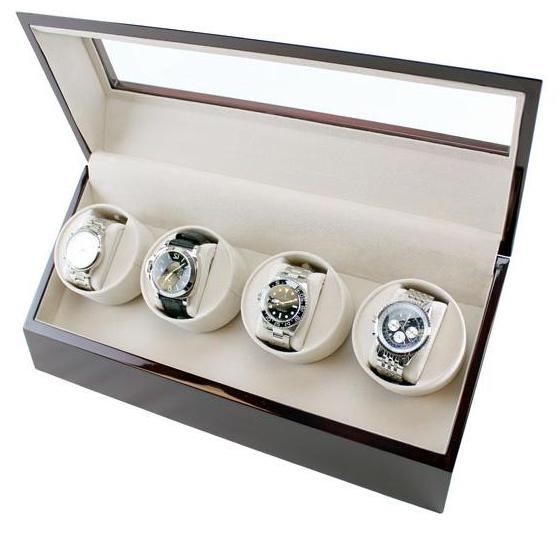 Quad Automatic Watch Winder Cherrywood Finish
