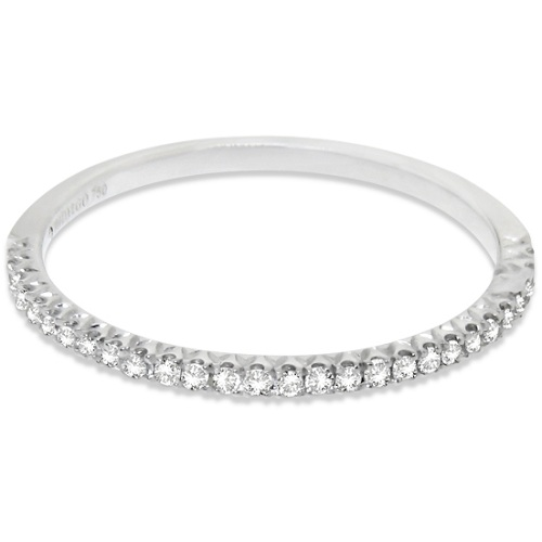 Micro Pave Diamond Ring Guard 18k White Gold by Hidalgo (0.11 ct)