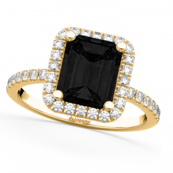 Black Diamond & Diamond Engagement 14k Yellow Gold (3.32 ct)