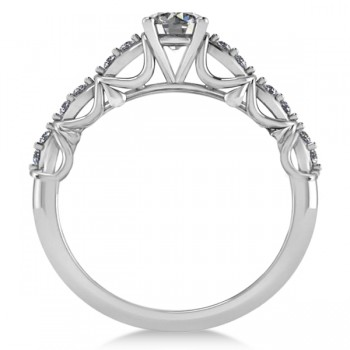 Diamond Accented Engagement Ring in 14k White Gold (0.68ct)