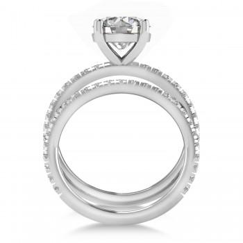Diamond No Halo Semi-Eternity Bridal Set 14k White Gold (0.77ct)
