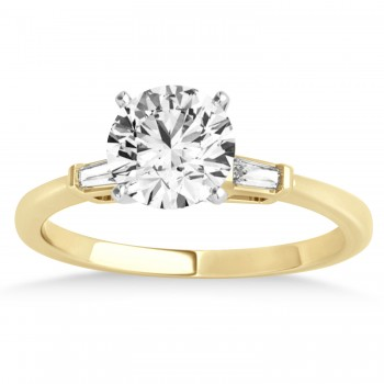 Tapered Baguette 3-Stone Diamond Engagement Ring 18k Yellow Gold (0.10ct)