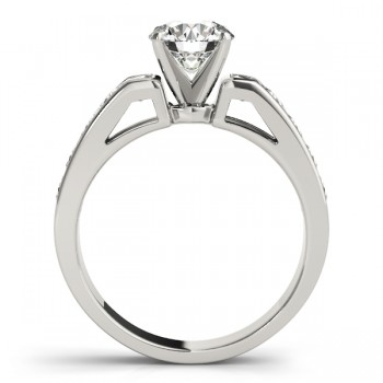Diamond Accented Engagement Ring Setting 14k White Gold 1.00ct