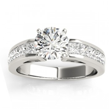 Diamond Accented Bridal Set in 14k White Gold 2.20ct