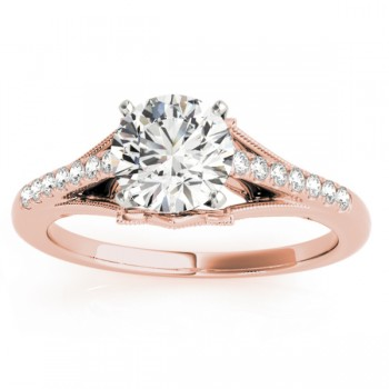 Diamond Engagement Ring Setting 14k Rose Gold (0.11ct)