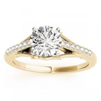Diamond Engagement Ring Setting 18k Yellow Gold (0.11ct)