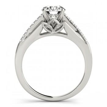 Diamond Engagement Ring Setting Palladium (0.11ct)