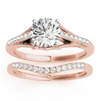 Diamond Bridal Set Setting 14k Rose Gold (0.20ct)