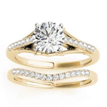 Diamond Bridal Set Setting 18k Yellow Gold (0.20ct)