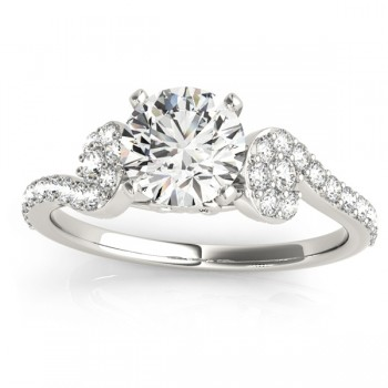 Diamond Single Row Bridal Set Setting 18k White Gold (0.68 ct)