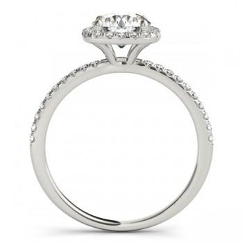 Square Halo Diamond Engagement Ring Setting Palladium (0.20ct)