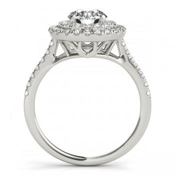 Diamond Double Halo Engagement Ring Setting Palladium (0.33ct)