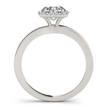 Diamond Halo Solitaire Engagement Ring Setting Platinum (0.06ct)