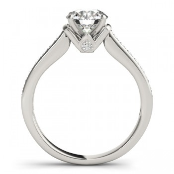 Diamond Accent Engagement Ring 14k White Gold (0.72ct)