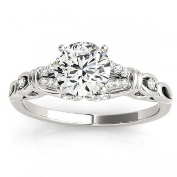 Diamond Antique Style Engagement Ring Setting Palladium(0.14ct)