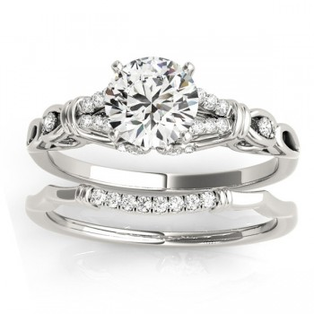 Diamond Antique Style Bridal Set Setting Platinum(0.18ct)