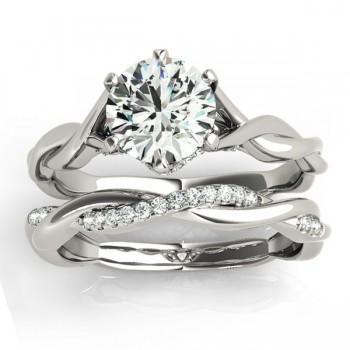 Diamond 6-Prong Twisted Bridal Set Setting Platinum (0.19ct)