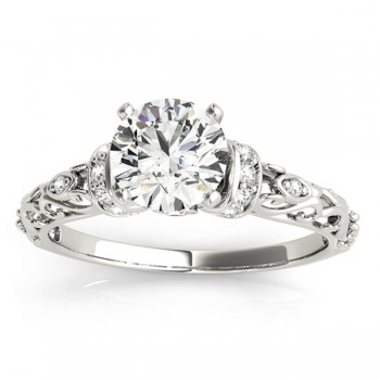 Diamond Antique Style Engagement Ring Setting