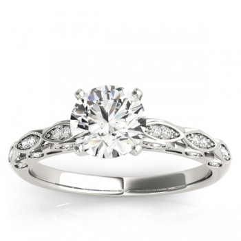 Elegant Diamond Engagement Ring Setting 14k White Gold (0.15ct)