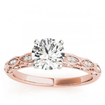 Elegant Diamond Engagement Ring Setting 18k Rose Gold (0.15ct)