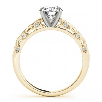Elegant Diamond Engagement Ring Setting 18k Yellow Gold (0.15ct)