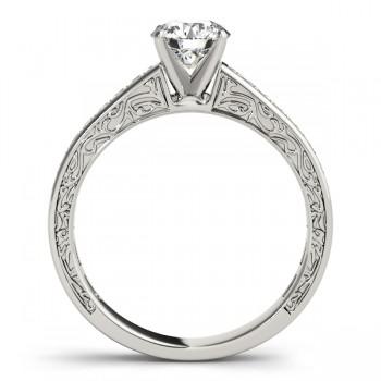 Diamond Channel Set Engagement Ring 14k White Gold (0.42ct)