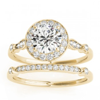 Diamond Accented Engagement Ring Setting 14k Yellow Gold (0.25ct)