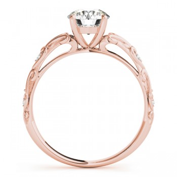 Diamond Antique Style Engagement Ring 14k Rose Gold (0.03ct)