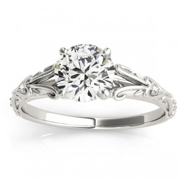 Diamond Antique Style Engagement Ring Palladium (0.03ct)