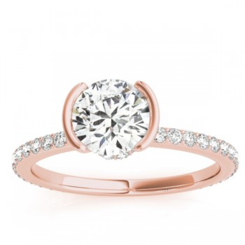 Semi-Bezel Setting Bridal Set 18k Rose Gold (0.56ct)